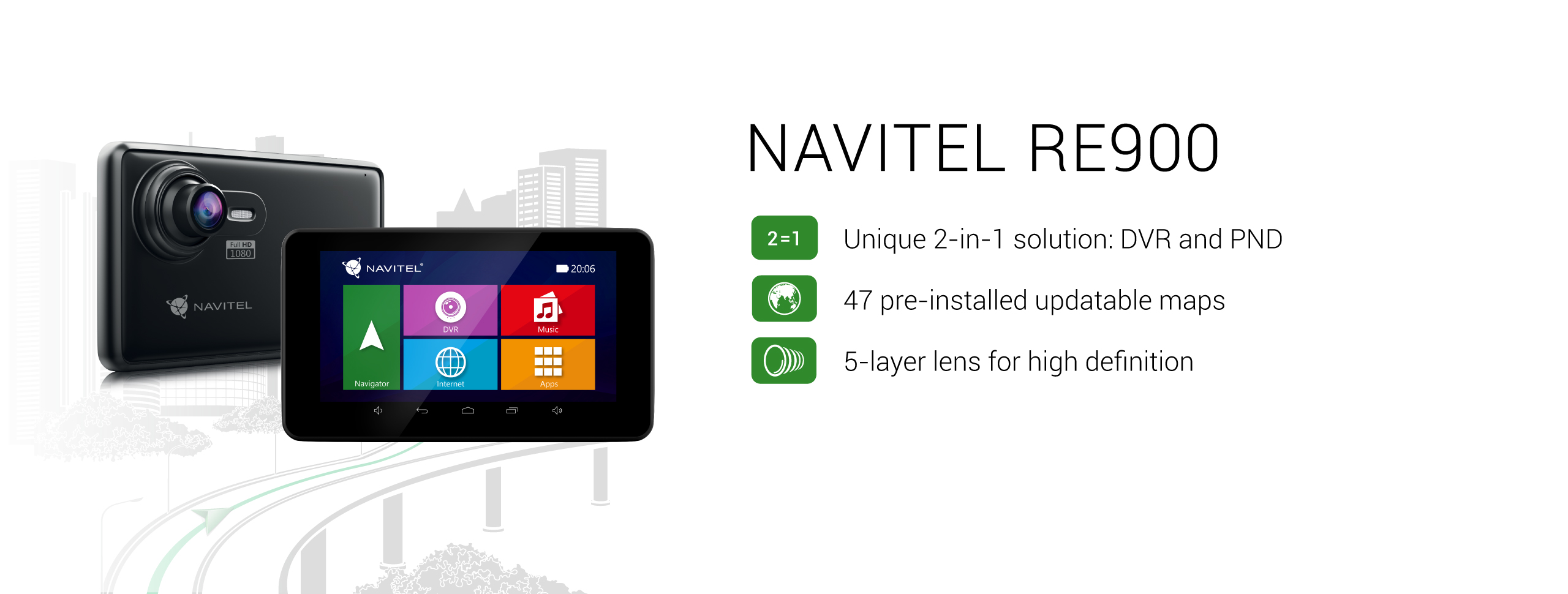 Navigation DVR NAVITEL RE900 FULL HD Device