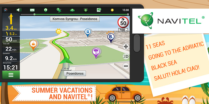 Special NAVITEL® map packages for your summer vacation